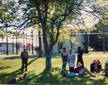 That is me lower right laying down under the magic tree