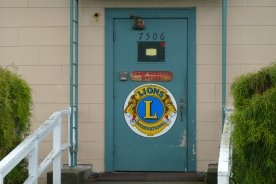 Door to the cabins