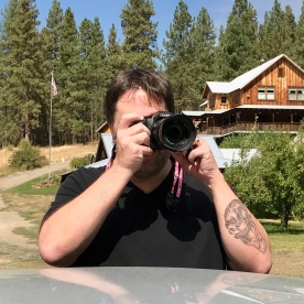 hubby picture of me taking pictures... meta