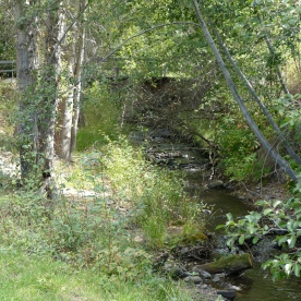 Stream/Creek used for gold mining